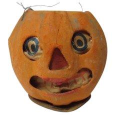 "3 3/4"" Tall - Nice 1930's Halloween Germany JOL Pumpkin Lantern #6"