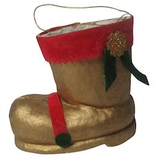 Vintage Japan Christmas Boot Candy Container Ornament