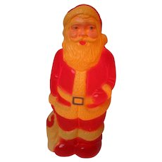 Vintage Hard Plastic Blow Mold Christmas Light - Santa Standing