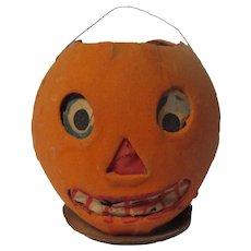 "Vintage Germany Halloween JOL Pumpkin Face Lantern - 3""T"