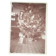 Marvelous 1892 Real Photograph - Christmas Tree from Bay City Michigan