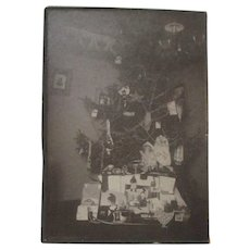 Marvelous 1904 Real Photograph - Christmas Tree from Bay City Michigan