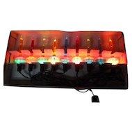 Old 9 Light C-6 Noma Bubble Light Set w Slugs in Original Girl Box w Cord #302