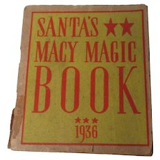 "Marvelous Christmas 1936 Macy's Dept Store ""Santa's Macy Magic Book"""
