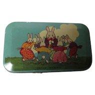 Stunning Tindeco Easter Tin Litho Box - PETER RABBIT