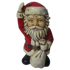 "Large 8 3/4""T Vintage Japan Santa Claus Christmas Bank"