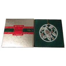 Lenox Days of Christmas Ornament in Original Box - Partridge in Pear Tree - 1987
