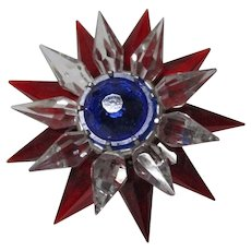 C-6 ILLUMIBRITE Matchless Star Xmas Light - Red Clear Cobalt