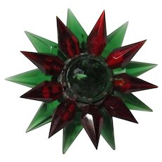 C-6 ILLUMIBRITE Matchless Star Xmas Light - Green Red Green