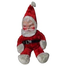 "18"" Tall - Vintage Plush Santa Claus - Vinylite Face"