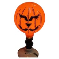 Spectacular Vintage GE General Electric Halloween Happy Sad JOL Light Bulb