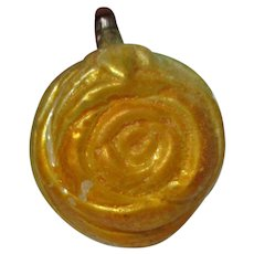 Beautiful Old Glass Christmas Ornament - ROSE Flower