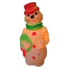 Vintage Blow Mold Christmas Light - Empire Snowman - Fluorescent Colors