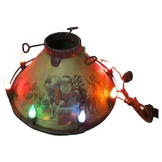 Late 1920's Noma Electric Co Lighted C-6 Santa Claus Christmas Tree Stand ML