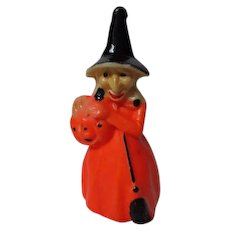 """Vintage 1960's Halloween GURLEY Candle - 8 1/4"""" WITCH"""