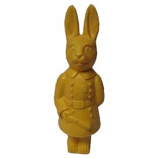 Vintage Easter Viscaloid Standing Yellow Policeman Rabbit