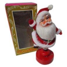 """9"""" Vintage Hong Kong AMICO Musical Santa Claus in Original Box"""