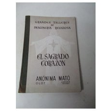 1952 Glorious Barcelona Spain Catholic Church Statue Catalog