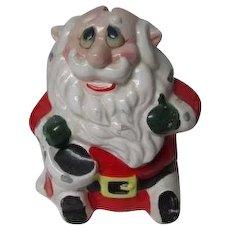 Vintage Kreiss Ceramic Crazy Santa Christmas Bank