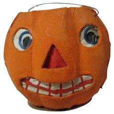 "2 3/4"" Tall - Nice Halloween Germany JOL Pumpkin Lantern #8"
