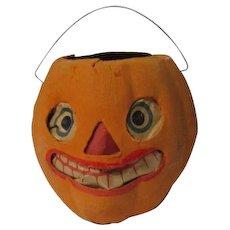 "4 3/4"" Tall - Nice Halloween Germany JOL Pumpkin Lantern #4"