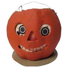 "5 1/2"" Tall - Nice Halloween Germany JOL Pumpkin Lantern #3"