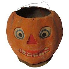 "4 3/4"" Tall - Nice  Halloween Germany JOL Pumpkin Lantern"