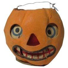 "4 1/4"" Tall - Nice Halloween Germany JOL Pumpkin Lantern #5"