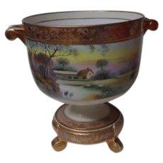 Very Old Huge NIPPON Stunning Handled Urn on Pedestal