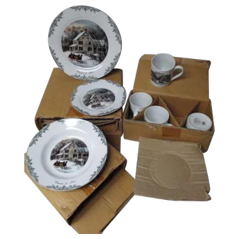 Thomas Pacconi Currier & Ives Dinnerware Set - 2000 Museum of the City of NY