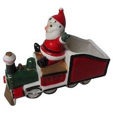 Vintage Holt Howard Christmas Ceramic Santa Claus in Train