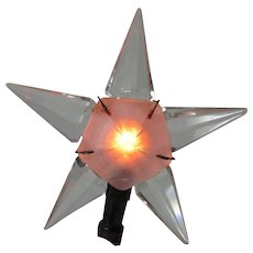 Very Rare 1930's Matchless Star C-6 Christmas Tree Topper Light