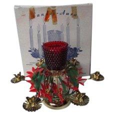 Vintage CANDEL-AURA Christmas Candle Centerpiece in Original Box