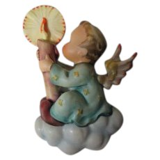 """Hummel - Angel w Candle on Cloud Wall Plaque - 5""""T"""