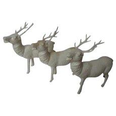 3 Vintage Occupied Japan Christmas Reindeer