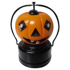 Beautiful Vintage Amico Japan Celluloid Battery Op Halloween Lantern - JOL