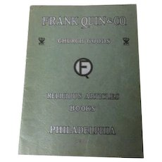 1934 Frank Quinn & Co - Phildaelphia - Catholic Church Supply Statue Catalog