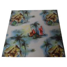 Vintage Christmas Wrapping Paper - ADORATION NATIVITY - Unused