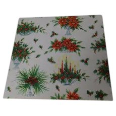 Vintage Christmas Wrapping Paper - Table Centerpieces - Unused