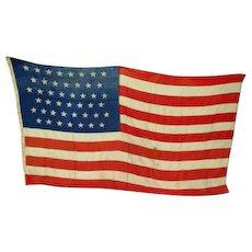 "113"" x 76"" Wonderful Old Wool 45 Star USA American Flag - Sewn Stars & Stripes"