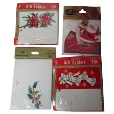 4 Unopened Packages of Vintage Christmas Place Cards & Gift Tags