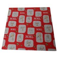 Vintage Christmas Wrapping Paper - NOEL Angels - Unused