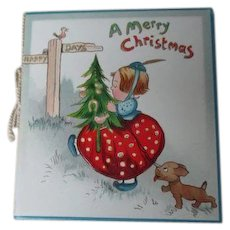 Early RAPHAEL TUCK Christmas Card with Envelope - Unused