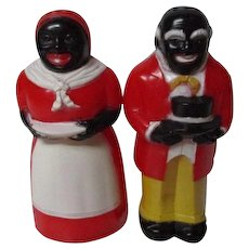 Vintage F&F Co of Ohio - Aunt Jemima & Uncle Moses S&P Shakers - 3 1/2""