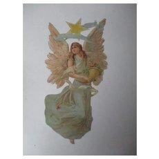 "11 1/2""T - Beautiful Christmas Angel Diecut with Star"