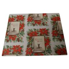Vintage Christmas Wrapping Paper - WISHES - Unused