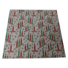 Vintage Christmas Wrapping Paper - 1 2 3 CANDLES - Unused