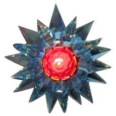 10 Aqua Aqua Red C-6 Illumibrite Matchless Star Xmas Lights in Original Boxes
