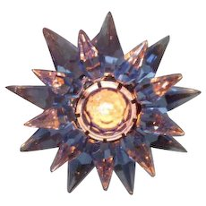 10 Blue Blue Cobalt C-6 Illumibrite Matchless Star Xmas Lights in Original Boxes