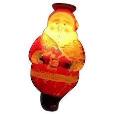 Vintage C-7 WORKING Japanese Figural Christmas Light - Standing Santa
